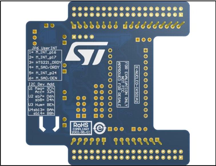 X-NUCLEO-IKS01A2، ماژول MEMS، دما ، رطوبت،  فشار ، برد، نوکلئو، STM32، ماژول ایکس نوکلئو، سنسور حرکت، مکان یابی، ربات