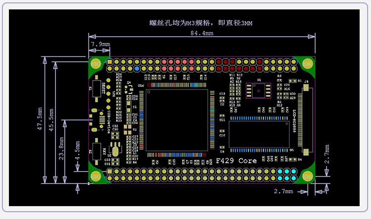 کربرد STM32F429، معماری کرتکس M4 ، رم 8 مگابایتی