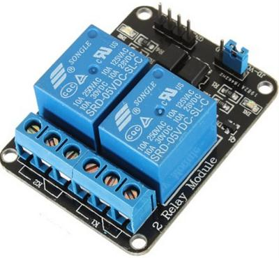 5V10A two-way relay optocoupler module